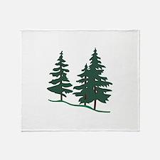 Evergreen Trees Throw Blanket