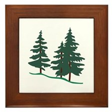 Evergreen Trees Framed Tile