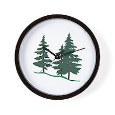 Evergreen Trees Wall Clock