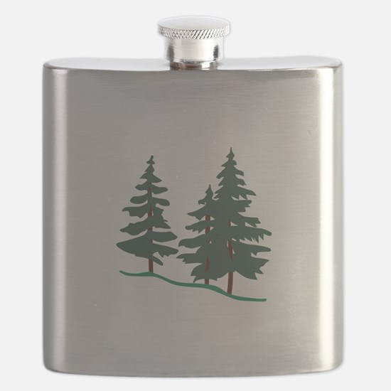 Evergreen Trees Flask