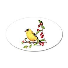 Goldfinch 22x14 Oval Wall Peel