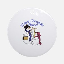 SMore Chocolate Please Ornament (Round)