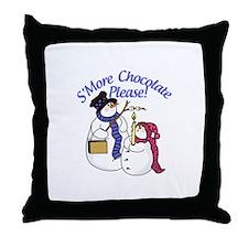 SMore Chocolate Please Throw Pillow