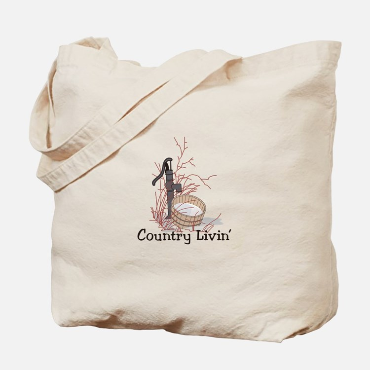 Country Livin Tote Bag