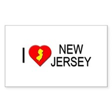 I love New Jersey Rectangle Decal