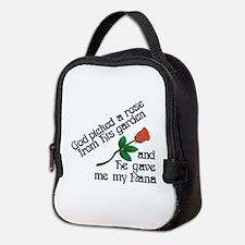 God Picked A Rose Neoprene Lunch Bag