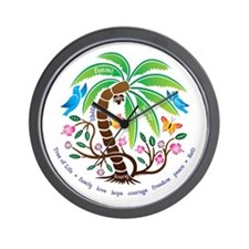 Wall Clock/Tree of Life/Tropical
