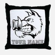 Razorback Boar (Custom) Throw Pillow