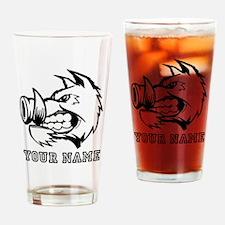 Razorback Boar (Custom) Drinking Glass