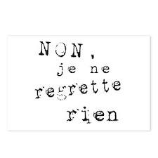 Je Ne Regrette Rien Postcards (Package of 8)
