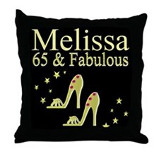 DAZZLING 65TH Throw Pillow