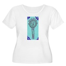 Cute Blue Tennis Racket 47 Derek Plus Size T-Shirt