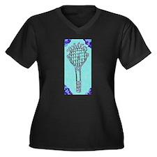 Cute Blue Tennis Racket 47 Derek Plus Size T-Shirt
