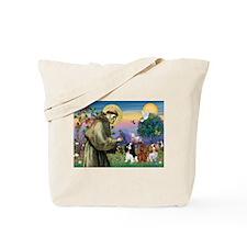 St. Francis & Cavalier King Charles Trio  Tote Bag