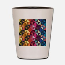 Colorful Stripes And Triangles Shot Glass