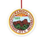 Colorado City Marshal Ornament (Round)