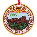 Colorado City Marshal Round Ornament