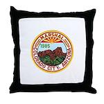 Colorado City Marshal Throw Pillow