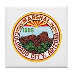 Colorado City Marshal Tile Coaster