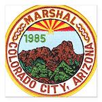 Colorado City Marshal Square Car Magnet 3