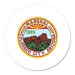 Colorado City Marshal Round Car Magnet
