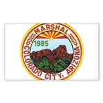 Colorado City Marshal Sticker (Rectangle)