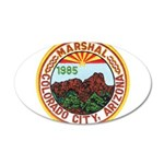 Colorado City Marshal 35x21 Oval Wall Decal