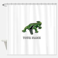 Mean Alligator (Custom) Shower Curtain