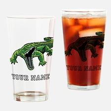 Mean Alligator (Custom) Drinking Glass