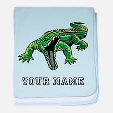 Mean Alligator (Custom) baby blanket