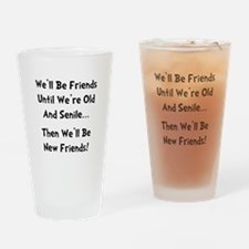 New Friends Drinking Glass