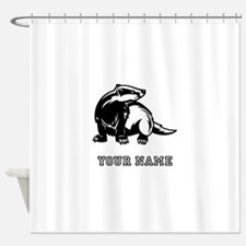 Honey Badger (Custom) Shower Curtain