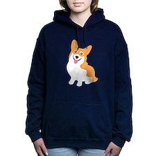 Cute Corgi Dog Women's Hooded Sweatshirt