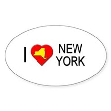 I love New York Oval Decal