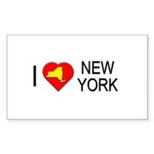I love New York Rectangle Decal