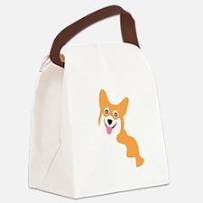 Cute Corgi Dog Canvas Lunch Bag