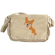 Cute Corgi Dog Messenger Bag