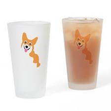 Cute Corgi Dog Drinking Glass
