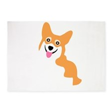 Cute Corgi Dog 5'x7'Area Rug