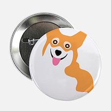"Cute Corgi Dog 2.25"" Button"