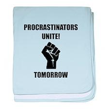 Procrastinators Unite baby blanket