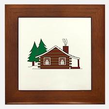 Log Cabin Framed Tile