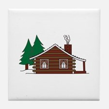 Log Cabin Tile Coaster