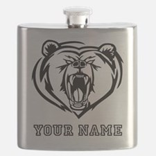 Mean Bear (Custom) Flask