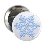 "Flurry Snowflake XVIII 2.25"" Button (100 pack)"