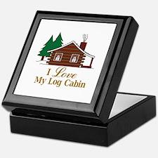 I Love My Log Cabin Keepsake Box