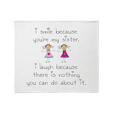 Sister Smile Throw Blanket