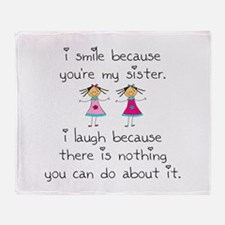 Sister Smile Throw Blanket