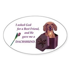 God Gave Me A Dachshund (Red Smooth) Decal