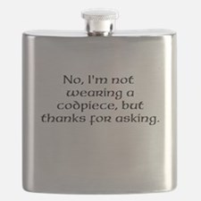 No, Im not wearing a codpiece... Flask